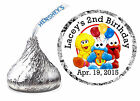 108 BABY SESAME STREET BIRTHDAY PARTY FAVORS HERSHEY KISS LABELS