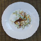 Antique Germany Embossed Fish & Flower Plate # 3