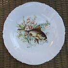Antique Germany Embossed Fish & Flower Plate # 4