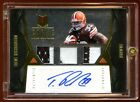 TRENT RICHARDSON MOMENTUM GOLD RC AUTO 49 TRIPLE PATCHES LOGO BROWNS SUPERSTAR