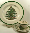 SPODE ENGLAND 3324 HOLIDAY CHRISTMAS TREE BUFFET 3pc SET DINNER