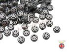 50 x 6mm Tibetan Silver Smiley Face Spacer Beads Craft Findings Beading F356