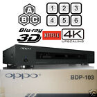 OPPO DIGITAL BDP-103 MULTI REGION CODE FREE 3D BLU-RAY PLAYER 4K UPSCALING NEW