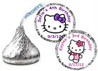 216 HELLO KITTY BIRTHDAY PARTY FAVORS HERSHEY KISS KISSES LABELS