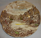 Johnson Brothers olde olde English Countryside Brown Multi Colored Dinner Plate