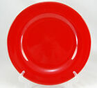 Crate and Barrel Unknown Pattern Dinner Plate 10.5 in. All Bright Red Rim Shape