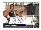 DWIGHT HOWARD 04 05 SPX throwback auto 2 color stripe patch rookie #147