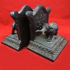 Antique/Vintage Ronson All Metal Art Wares Elephant Bookends Model No.11249