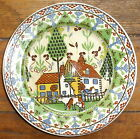 Royal Doulton Green Sampler with Cow / Country Scene Lunch Plate D3749