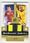 Moreno & Renteria 2011 UD SP Game Used Soccer Dual Fabrics Patch Card 10 25