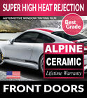 ALPINE PRECUT FRONT DOORS WINDOW TINTING TINT FILM FOR GEO TRACKER 4DR 96 97
