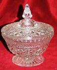 Vintage Collectible Anchor Hocking Glassware Wexford Footed Candy Dish Excellent