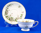 Franconia / Krautheim HAWTHORN Footed Cup and Saucer Set 2.125 in. White Flowers