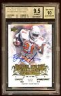 BGS 9.5 *10* BARRY SANDERS 2011 UD COLLEGE LEGENDS AUTO ED#1 5 ONCARD AUTO POP 1