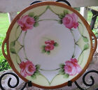 NIPPON DESSERT PLATES 6 Hand Painted Antique JE-OH Porcelain Japanese China Cake