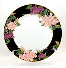 Fitz and Floyd CLOISONNE PEONY - BLACK Bread and Butter Plate 6.5 in. Black Rim