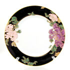 Fitz and Floyd CLOISONNE PEONY - BLACK Dinner Plate 10.25 in. Purple Pink Floral