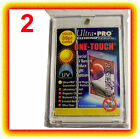 2 Ultra Pro ONE TOUCH MAGNETIC 35pt UV Card Holder Display Case Two Piece 81575