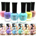6 New Kleancolor PASTEL SUMMER COLLECTION LOT Nail Polish Lacquer Colors