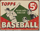 Topps 1955 Baseball Card Cards Bubble Gum REPRODUCTION Tin Metal Sign NEW