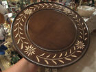 Vintage Wood Lazy Susan with Cuendet Music Box - Happy Birthday To You #932
