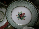 Fitz & Floyd Classic Choices Winter Holiday Green Wreath Salad Plate