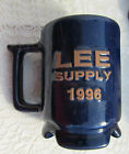 FRANKOMA POTTERY NAVY BLUE MUG CUP.. LEE SUPPLY 1996.. EXC