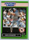 1989  PETE STANICEK - Kenner Starting Lineup Card - BALTIMORE ORIOLES