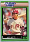 1989  VON HAYES - Kenner Starting Lineup Card - PHILADELPHIA PHILLIES