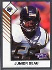 1993  JUNIOR SEAU - Kenner Starting Lineup Card - San Diego Chargers - (white)