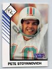 1993  PETE STOYANOVICH - Kenner Starting Lineup Card - MIAMI DOLPHINS - (White)