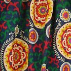 Blue Red Green Suzani Medallion Drapery Fabric | Inner Soul Majestic | Waverly