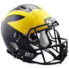 MICHIGAN WOLVERINES 2016 PAINTED WINGS RIDDELL SPEED AUTHENTIC FOOTBALL HELMET