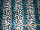 Turquoise Leopard Jaguar Animal Skin Fleece Fabric by the Yard BTY