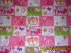 Baby Bear Pink Paw Prints Fleece Fabric by the Yard BTY