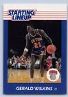 1988  GERALD WILKINS - Kenner Starting Lineup Card - New York Knicks