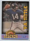 1998  Y.A. TITTLE - Starting Lineup Card - New York Giants - LEGENDS