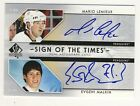 Mario Lemieux Evgeni Malkin 2006-07 UD SP Authentic SIGN OF THE TIMES AUTO RC