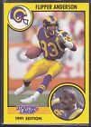 1991  FLIPPER ANDERSON - Kenner Starting Lineup Card - LOS ANGELES RAMS
