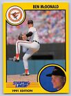 1991  BEN McDONALD - Kenner Starting Lineup Card - BALTIMORE ORIOLES