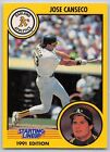 1991  JOSE CANSECO - Kenner Starting Lineup Card - OAKLAND ATHLETICS