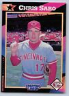 1992  CHRIS SABO - Kenner Starting Lineup Card - Cincinnati Reds