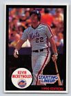 1990   KEVIN McREYNOLDS - Kenner Starting Lineup Card - New York Mets - (BLUE)