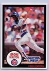 1990   JEROME WALTON - Kenner Starting Lineup Card - CHICAGO CUBS - (BLUE)