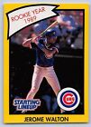 1990   JEROME WALTON - Kenner Starting Lineup Card - CHICAGO CUBS  (Yellow)