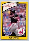 1990   JOE CARTER - Kenner Starting Lineup Card - Cleveland Indians  (Yellow)