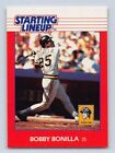1988  BOBBY BONILLA - Kenner Starting Lineup Card - Pittsburgh Pirates