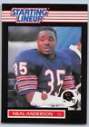 1989   NEAL ANDERSON - Kenner Starting Lineup Card - CHICAGO BEARS
