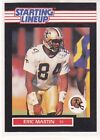1989  ERIC MARTIN - Kenner Starting Lineup Card - NEW ORLEANS SAINTS