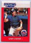 1988  GARY CARTER - Kenner Starting Lineup Card - New York Mets - Vintage